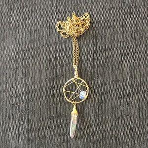 NWOT Dreamcatcher White Stone Necklace
